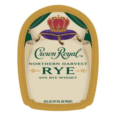 CROWN ROYAL NORTHERN HARVEST RYE LABEL